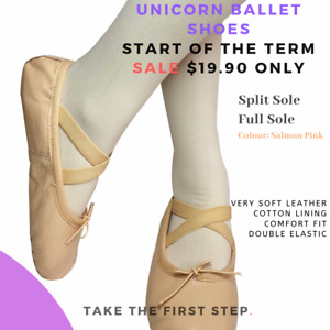 Unicorn Leather ballet shoes child and Adult Full sole and Split Sole