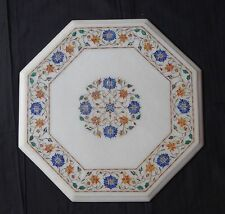 """16""""Marble Hakik Lapis Coffee Dining Table Top Marquetry Decorative Furniture Art"""