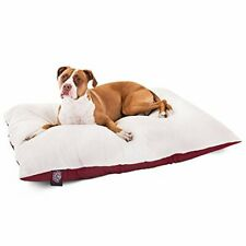New listing 36x48 Burgundy Rectangle Pet Dog Bed By Majestic Pet Products Large