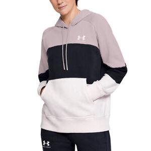 Under Armour UA Rival Fleece Colour Block Ladies Loose Fit Hoodie