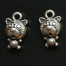 10pc Retro tiger Tibetan Silver Animal Charms Pendant Bracelet Jewelry PJ094