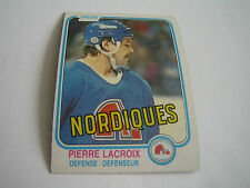 1981/82 O-PEE-CHEE HOCKEY PIERRE LACROIX CARD #278***QUEBEC NORDIQUES***