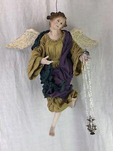 Angelo Engel Angel 35 Cm Creche Neapolitan Krippen Kunst Presepe Napoletano