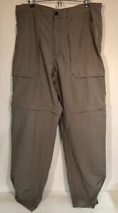 Patagonia Convertible Hiking Pants Men's Size 38 X 34 Tan Cargo Pockets