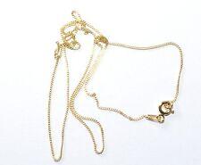 Plata 925 Collar - Collar - Cadena - Bañado En Oro - Largo 46cm Superior