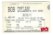 BOB DYLAN CONCERT TICKET STUB tour from Israel 200611
