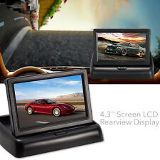 "Foldable 4.3"" Screen LCD Rearview Display with Car Reverse Backup Parking Camera"