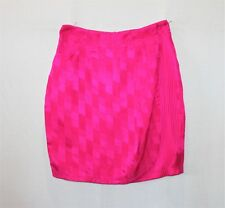 ADELE PALMER Brand Shocking Pink Sand Washed Silk Short Skirt Size 10 BNWT #SN27
