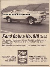 FORD FALCON XC COBRA A3 ADVERTISEMENT POSTER AD SALES BROCHURE WALL ART 351 V8