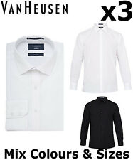 d3d0b9c8018 Van Heusen Mens Shirts X2 Business Polyester Poplin European Fit Shirt E101  White 43 90