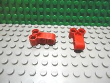 Lego 2 Red technic 4 pin connector long