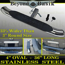"""HITCH STEP Bumper Guard For 2"""" Receiver 4""""OVAL 36""""(L) STAINLESS STEEL Truck SUV"""