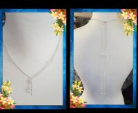 Wedding Pearl Necklace Special Occasion Set Long Back Drop