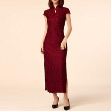 Women Oriental Style Festive Flag Dress Cap Sleeve AU Size 8 10 12 14 16 18 7889
