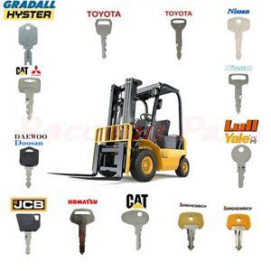 13 Forklift Ignition Key Set Toyota Nissan Daewoo Clark Cat Doosan Clark Yale
