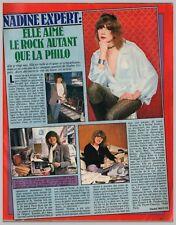 1978 DOCUMENT (LASu 45) CHANSON : NADINE EXPERT 1page