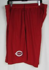 Cincinnati Reds Men's Embroidered Logo Red Perforated Shorts Majestic MLB
