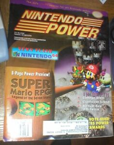 NINTENDO POWER MAGAZINE ISSUE 82, SUPER MARIO RPG, INCLUDES POSTER & CARDS.