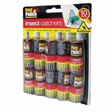 10 PC PACK OF STICKY PAPER FLY CATCHER TRAPS BUGS WASP TRAP HOUSE PEST CONTROL