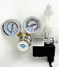 The Barn CO2 Regulator aquarium Two Gauge Solenoid Magnetic Valve CGA320 US