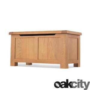 Buckingham Oak - Chunky Blanket Box Perfect For End Of Bed /  Bedroom Furniture