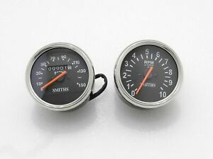 5x SMITH REPLICA SPEEDOMETER 0-150MPH RPM TACHOMETER BSA TRIUMPH NORTON AJS