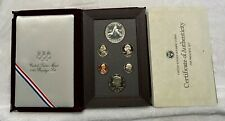 1988 S US Mint (6) Coin Prestige Proof Set with Olympic Silver Dollar