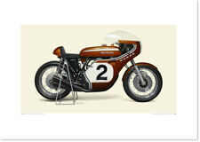 Realistic Artwork Honda 1970 Honda CB750 Racer by Seevert Works