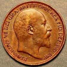 1910 United Kingdom Farthing Edward VII Dei Gratia