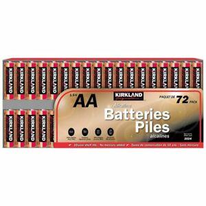 72-Pack Kirkland Signature AA Battery 1.5V Alkaline AA72x1 Exp: 2028