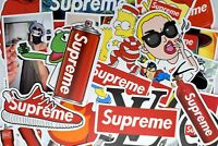 50 Supreme Hypebeast Vinyl Stickers for Hydro Flask Laptop Skateboard Luggage