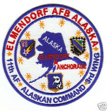 USAF BASE PATCH, ELMENDORF AFB ALASKA, 11TH AF, 3RD WING                       Y