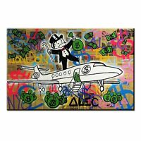 Alec Monopoly Fly oil painting on canvas large home decor wall picture 32x24