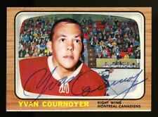 1966 1966-67 TOPPS USA TEST~#13~YVAN COURNOYER~AUTOGRAPHED HOCKEY CARD