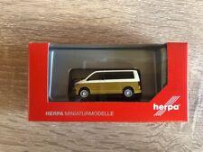 Herpa 038730 - 1/87 VW T6 Multivan Bicolor, candyweiß / kurkumagelb metallic