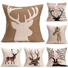 18'' Deer Head Style Waist Pillow case Animal Printed Throw Car Home Decorative