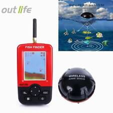 Outlife Portable Fishing Fish Finder with Wireless Sonar Sensor LCD Display