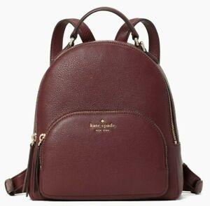 Kate Spade Jackson Burgundy Leather Medium Backpack WKRU5946 NWT $359 Cherrywood