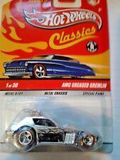 hotwheels classics series 5 # 1 amc greased gremlin chrome red line wheels