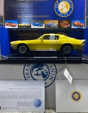 Franklin Mint 1970 Chevy Camaro Z/28  Yellow 1/18 Scale VERY LIMITED EDITION...