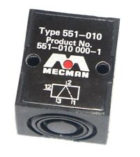 MECMAN TYPE 551-010 VALVE PRODUCT NO. 551-010 000-1, 5510100001