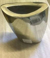 NEW stainless  SILVER COLOUR ALUMINIUM CONICAL VASE 18cm 8CM 16cm MADE IN INDIA