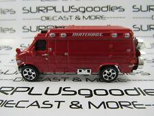 MATCHBOX 1:64 LOOSE Collectible Red 1995 '95 CHEVROLET Custom Van w/Bike on Rear