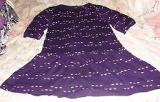 LITTLE MARC JACOBS GIRLS SIZE 10/12/14 ADORABLE PURPLE HEART DRESS GLASS BUTTONS