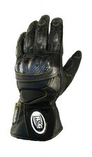 R&G Racing Deluxe Leather Motorcycle Gloves Size Medium