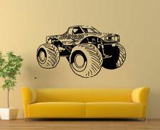 Wall Decal Sticker Bedroom Big truck muscle dirt car huge wheels SUV auto bo2910