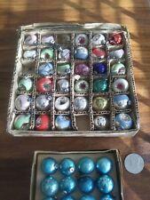 Nice Box Lot of 34 Antique Mini Christmas Tree Ornaments