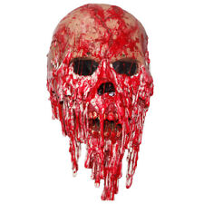 Halloween Adult Scary Bloody Zombie Face Latex Mask Melting Walking Cosmetics