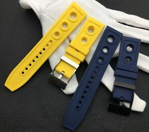 22/24 mm Rubber Silicone Black Red Ocean Racer Watch Band Using For Breitling