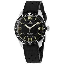 New Oris Diver 65 Black Dial Rubber Strap Mens Watch 73377074064RS